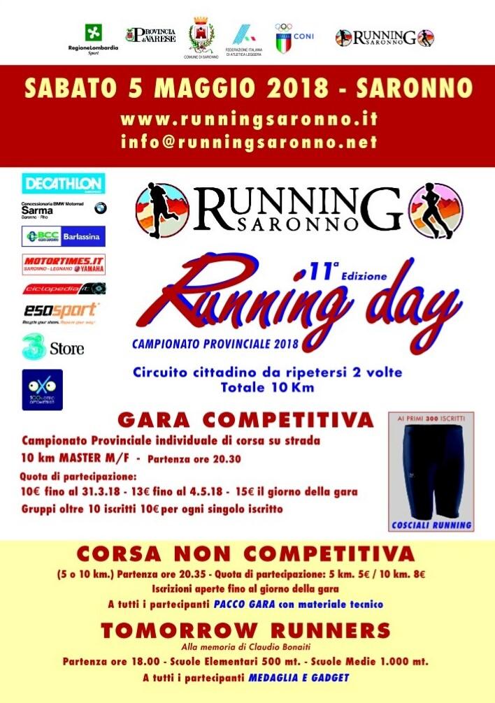 running day saronno 2018